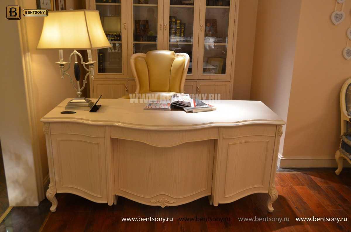 Письменный стол Флетчер-W (Классика, массив дерева) сайт цены