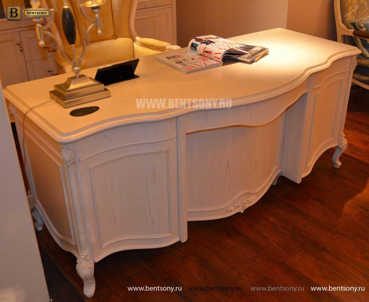 Письменный стол Флетчер-W (Классика, массив дерева) изображение