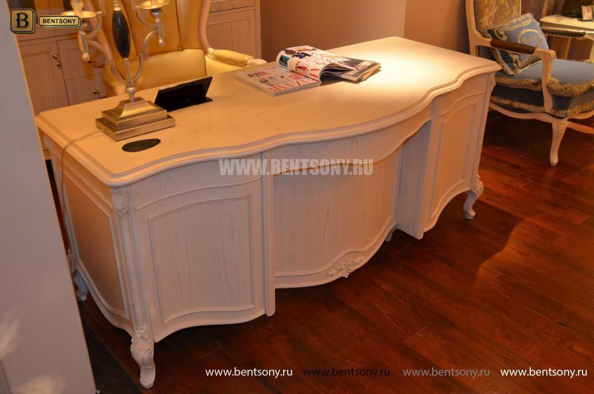 Письменный стол Флетчер-W (Классика, массив дерева) для загородного дома