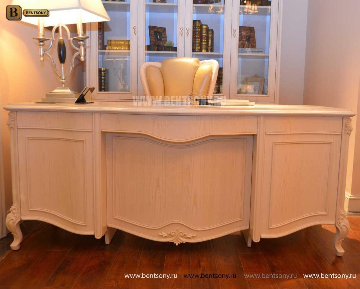 Письменный стол Флетчер-W (Классика, массив дерева) в СПб
