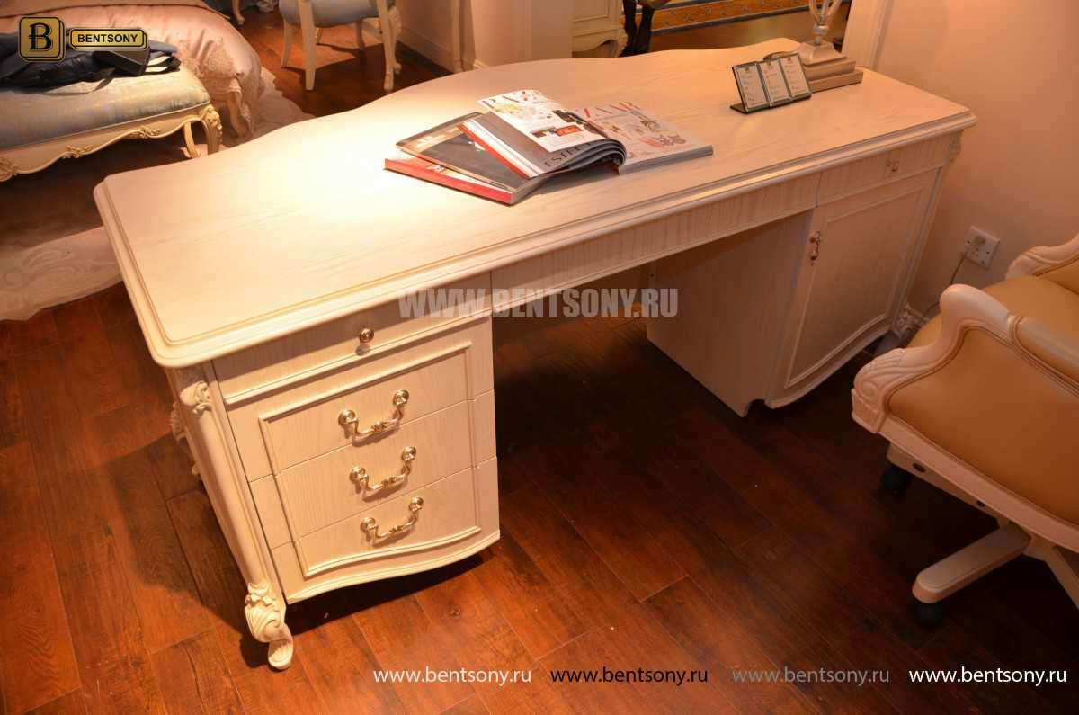 Письменный стол Флетчер-W (Классика, массив дерева) магазин