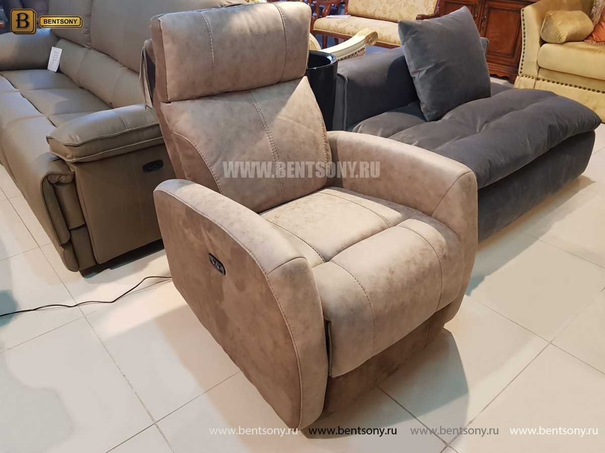 Кресло Эдвард (Реклайнер, Алькантара) для квартиры