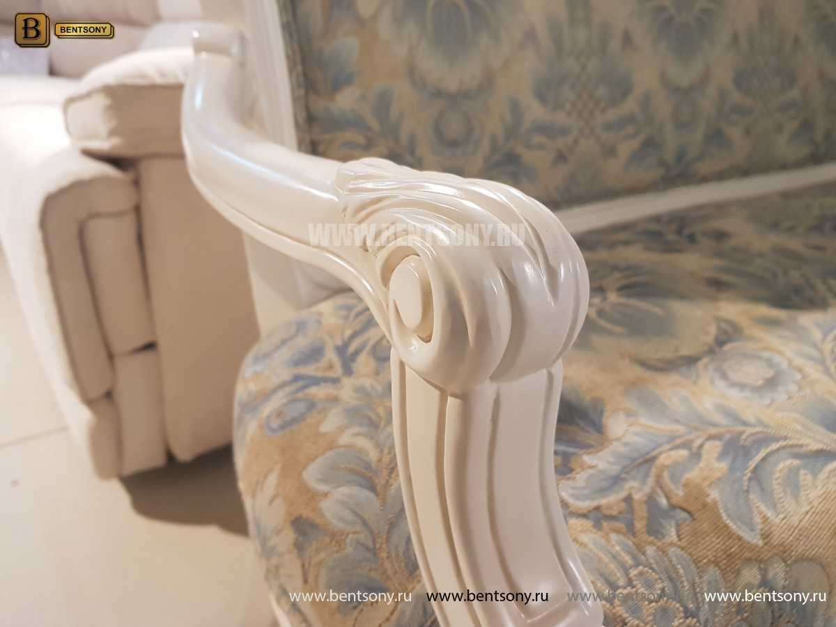 Банкетка Флетчер-W белая (Ткань, классика) сайт цены