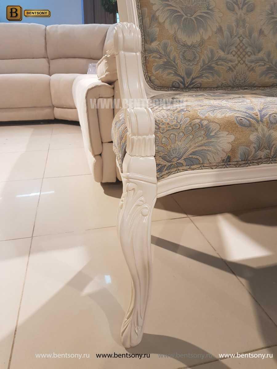 Банкетка Флетчер-W белая (Ткань, классика) распродажа