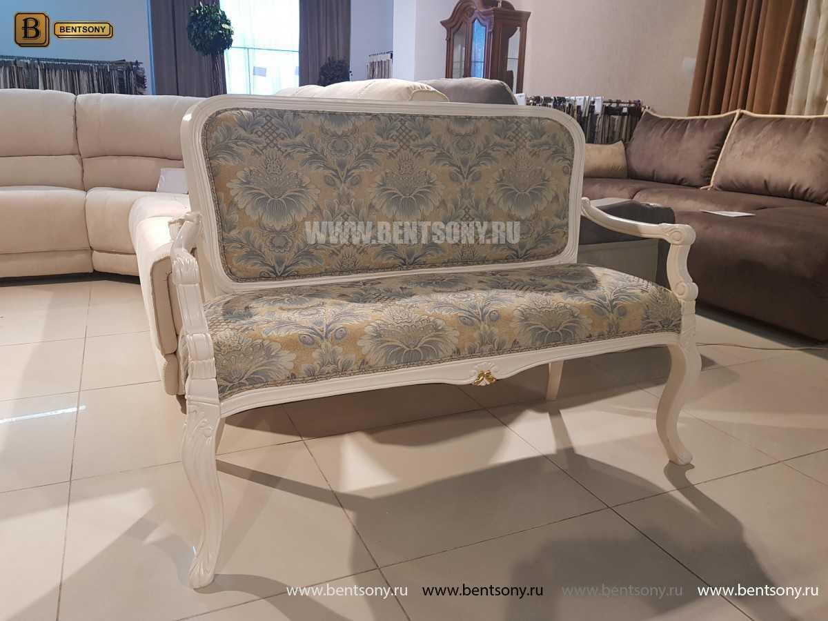Банкетка Флетчер-W белая (Ткань, классика) для дома