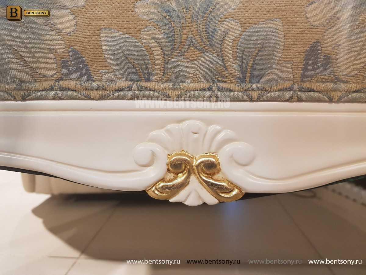 Банкетка Флетчер-W белая (Ткань, классика) для квартиры