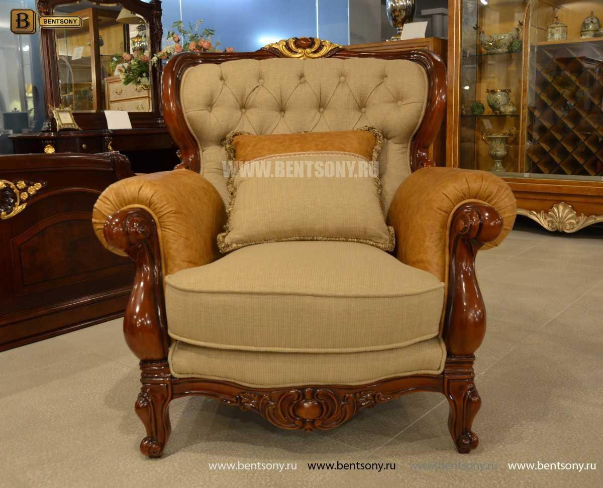 Кресло Вагнер А классическое (Подлокотники кожа) магазин Москва