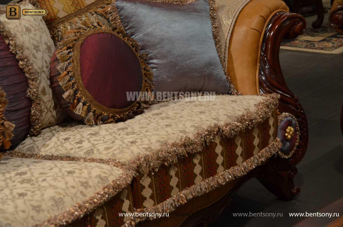 Диван Двойной Вагнер С (Кушетка, Ткань, подлокотники кожа) каталог мебели