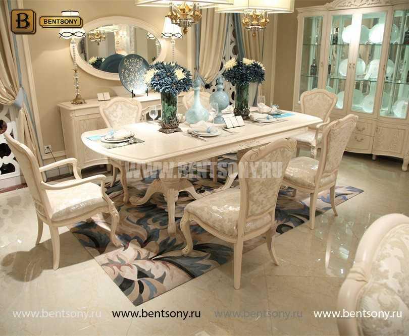 Стол обеденный раздвижной Флетчер-W (Классика, массив дерева) каталог мебели с ценами
