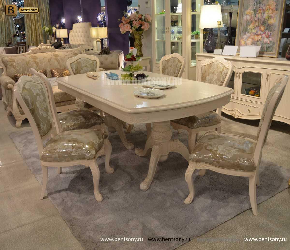Стол обеденный раздвижной Флетчер-W (Классика, массив дерева) фото