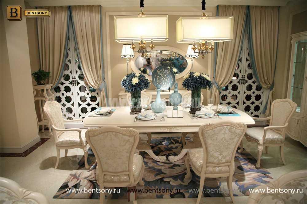 Стол обеденный раздвижной Флетчер-W (Классика, массив дерева) магазин Москва