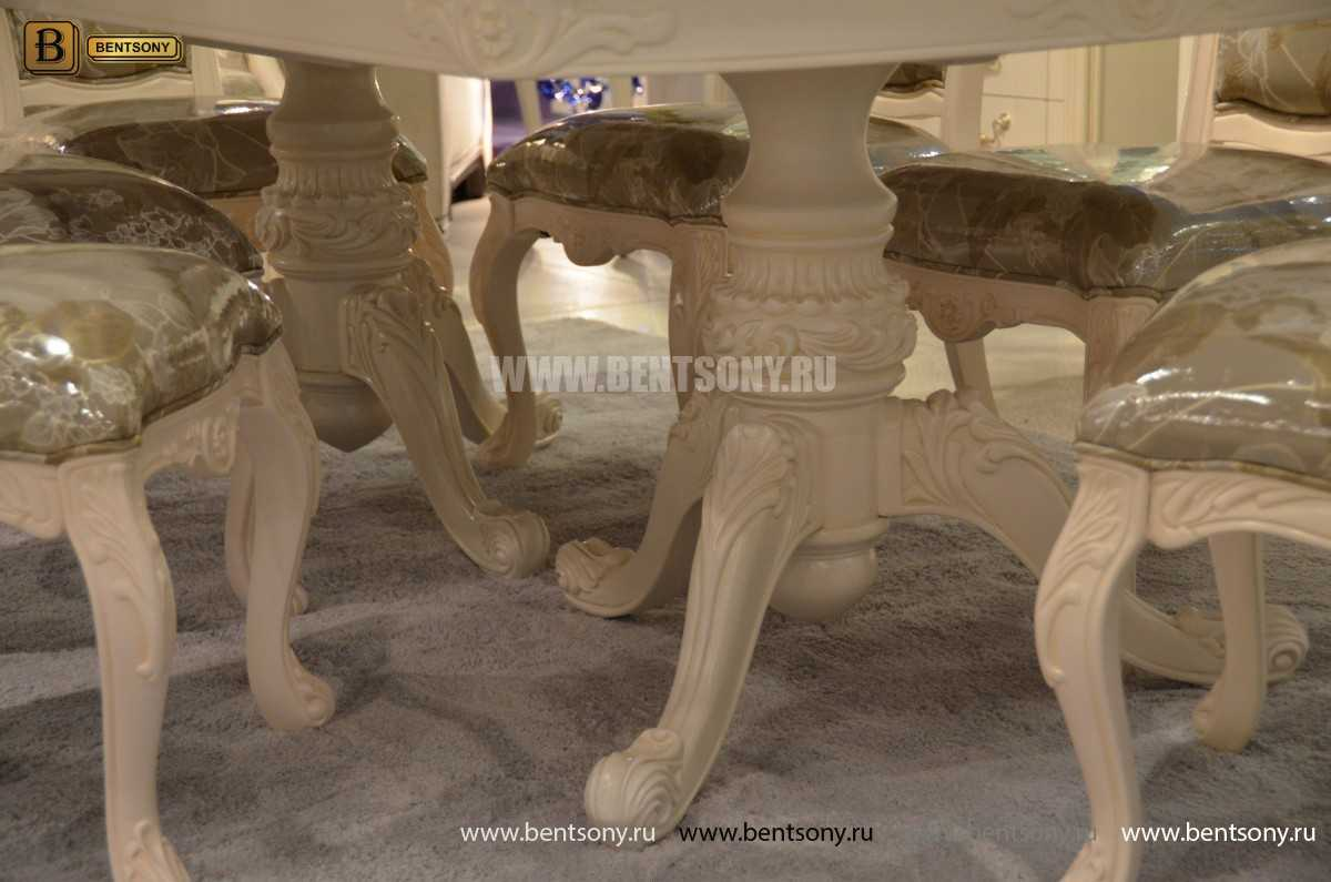 Стол обеденный раздвижной Флетчер-W (Классика, массив дерева) для квартиры