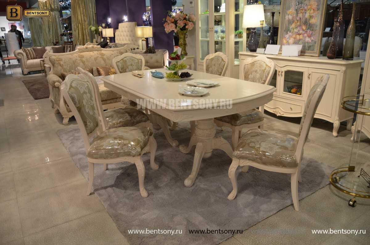 Стол обеденный раздвижной Флетчер-W (Классика, массив дерева) в интерьере