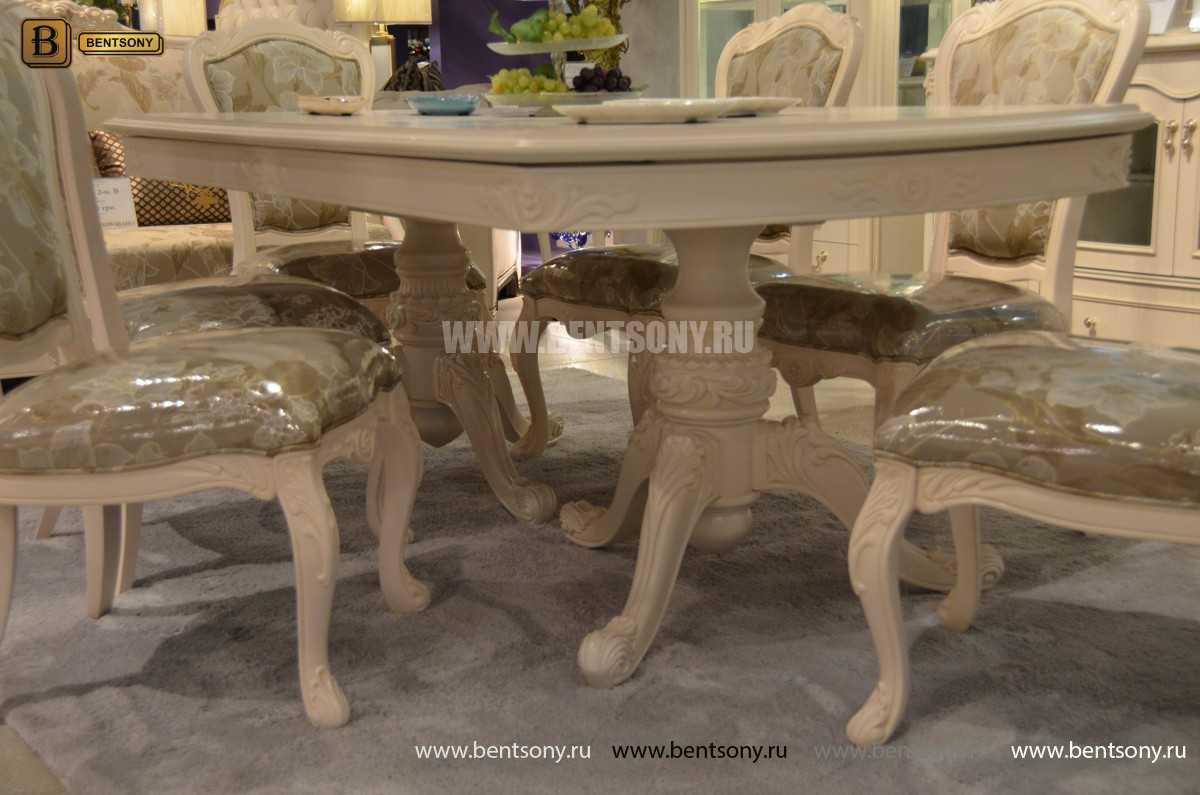 Стол обеденный раздвижной Флетчер-W (Классика, массив дерева) каталог мебели