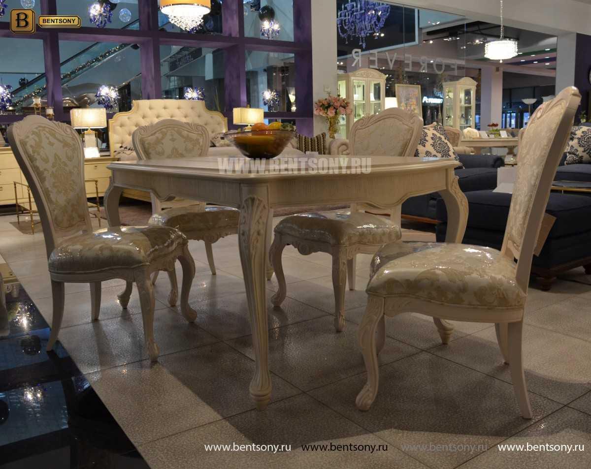 Стол обеденный прямоугольный Флетчер-W (Классика, массив дерева) купить