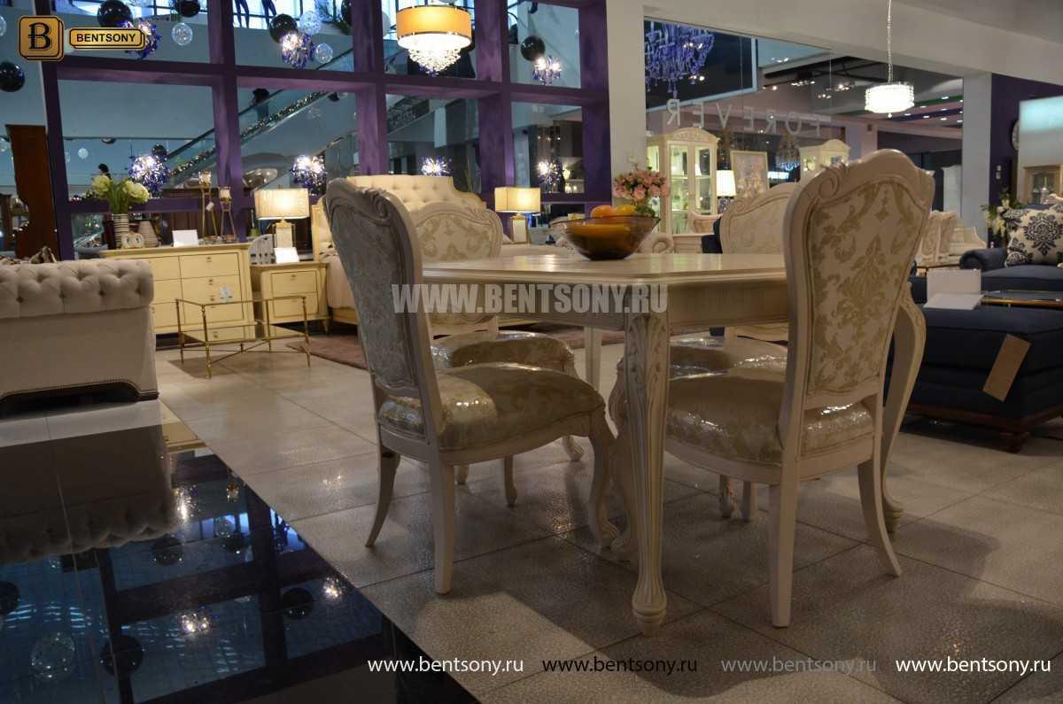 Стол обеденный прямоугольный Флетчер-W (Классика, массив дерева) магазин Москва