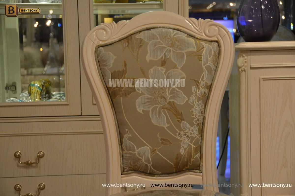 Столовая Флетчер-W классическая (Белая, Массив дерева)