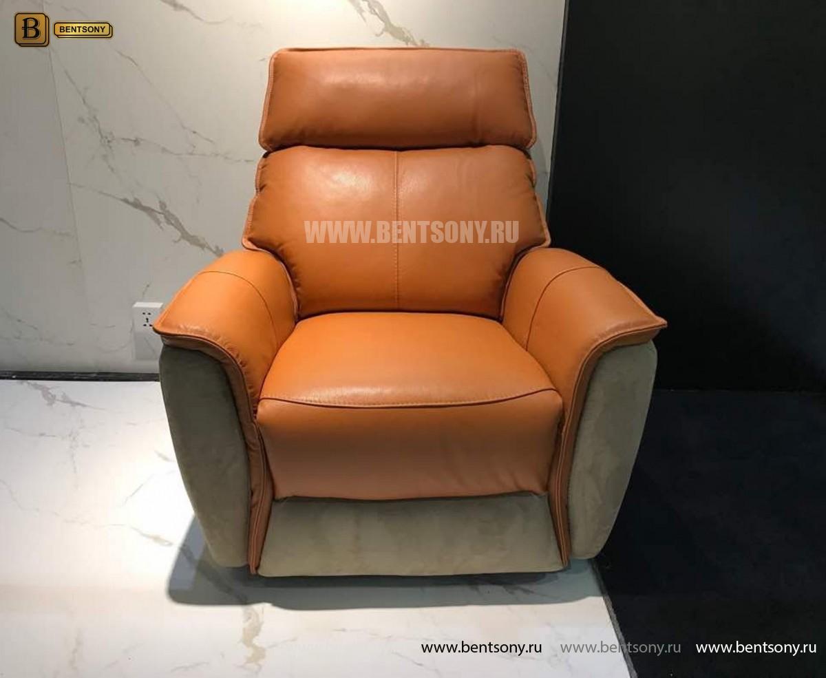 Кресло Венто (Реклайнер, Натуральная Кожа, Алькантара) купить в СПб