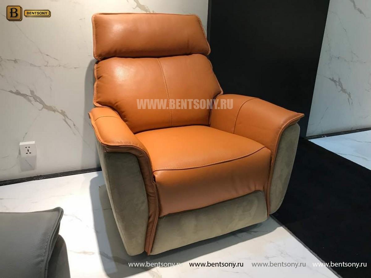Кресло Венто (Реклайнер, Натуральная Кожа, Алькантара) купить в Москве