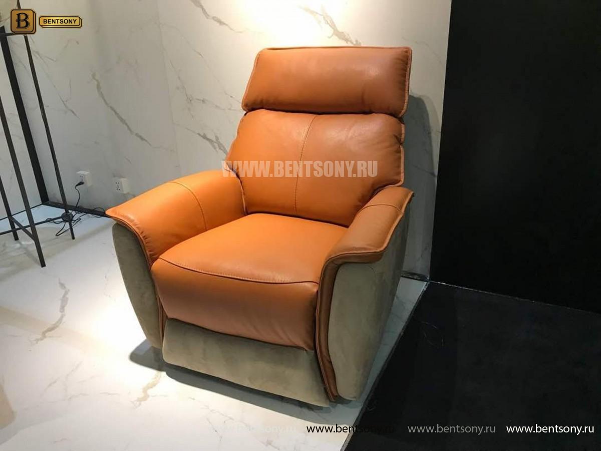 Кресло Венто (Реклайнер, Натуральная Кожа, Алькантара) интернет магазин