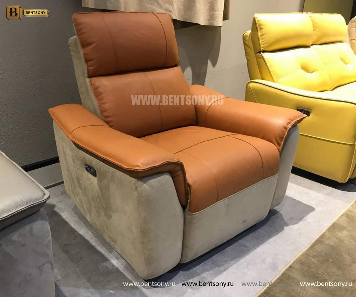 Кресло Либеро (Реклайнер, Натуральная Кожа, Алькантара) официальный сайт цены