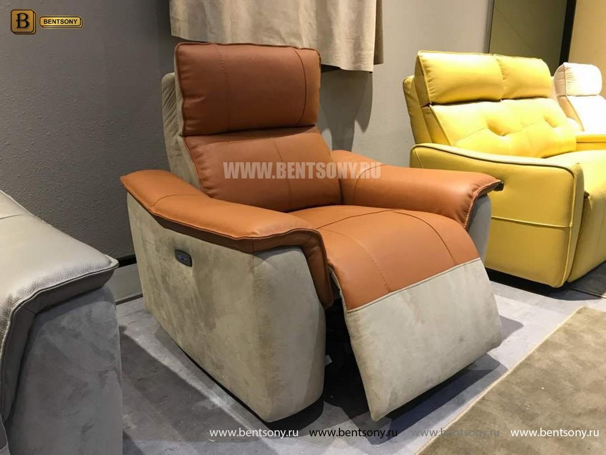 Кресло Либеро (Реклайнер, Натуральная Кожа, Алькантара) изображение