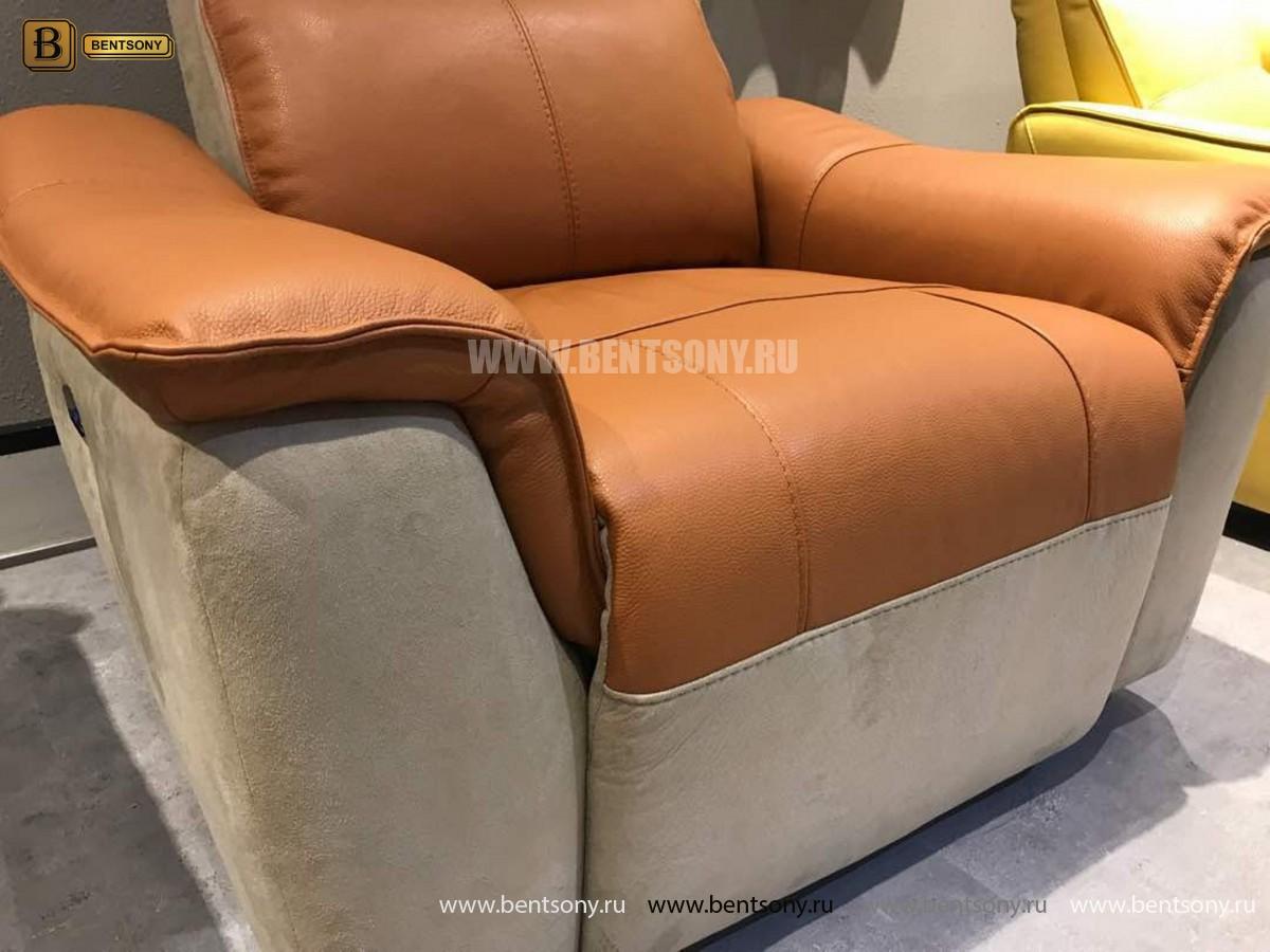 Кресло Либеро (Реклайнер, Натуральная Кожа, Алькантара) каталог мебели