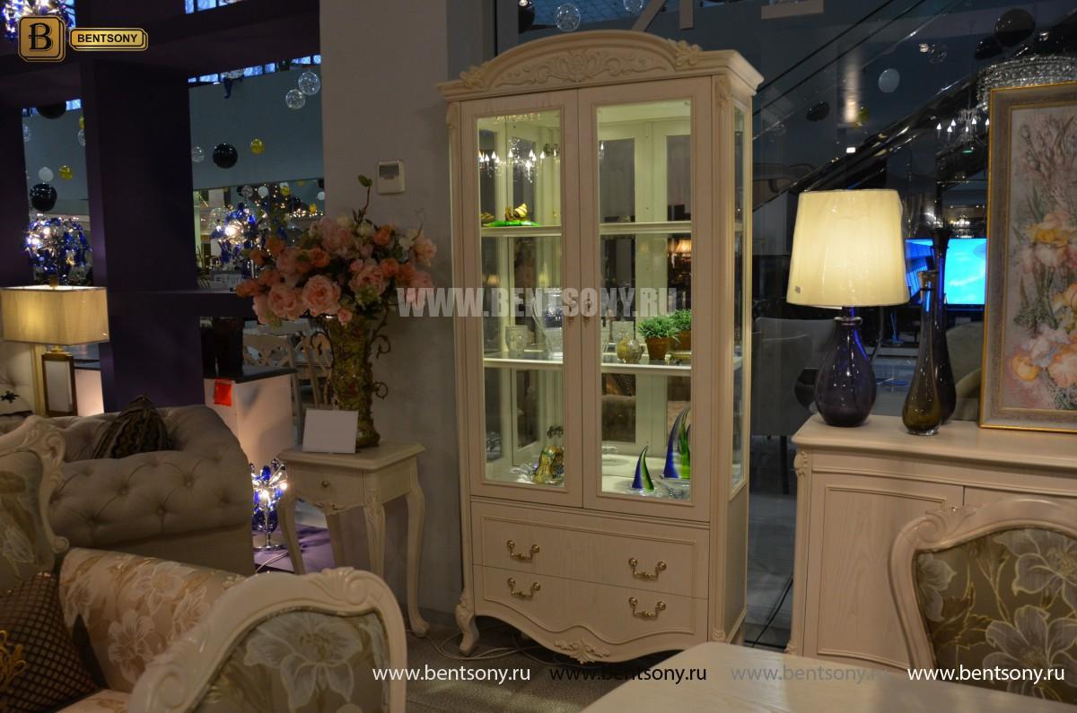 Витрина двухдверная Флетчер-W (Классика, массив дерева) купить в СПб
