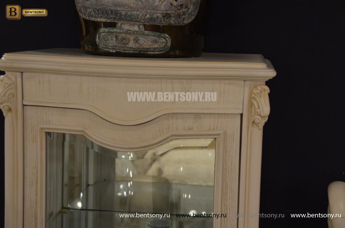 Витрина Флетчер-W для предметов декора (Классика, массив дерева)