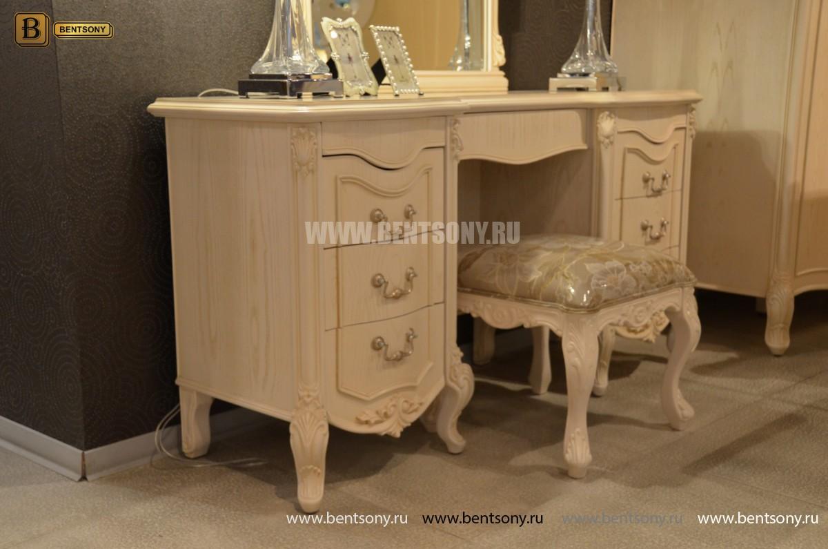 Стол туалетный Флетчер-W А с зеркалом (Классика, массив дерева) каталог мебели