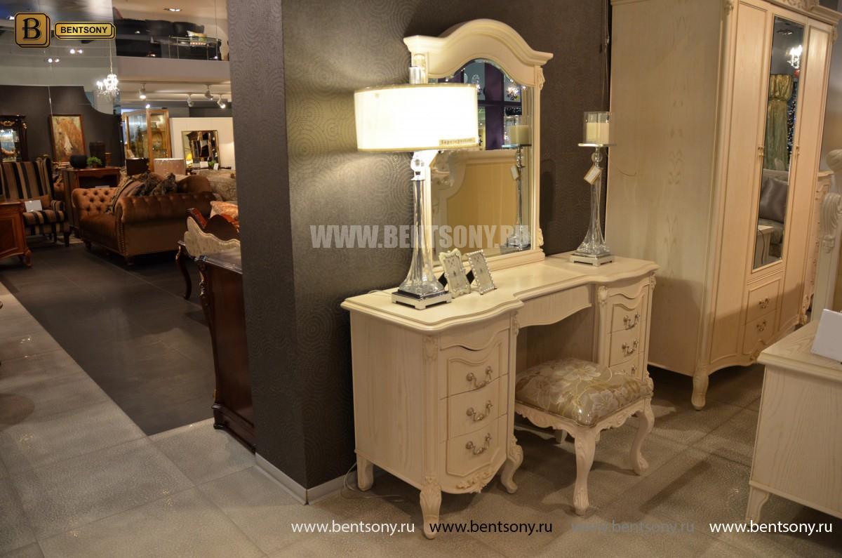 Стол туалетный Флетчер-W А с зеркалом (Классика, массив дерева) интернет магазин