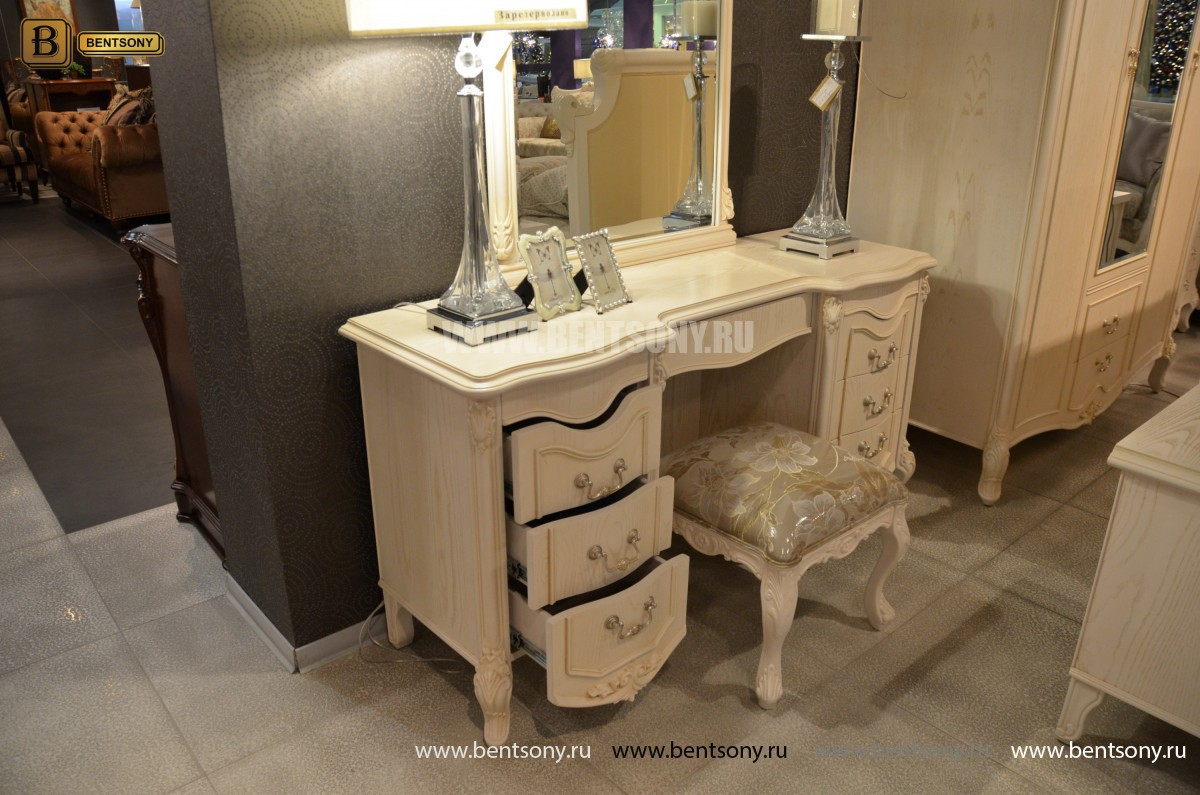 Стол туалетный Флетчер-W А с зеркалом (Классика, массив дерева) купить в Москве