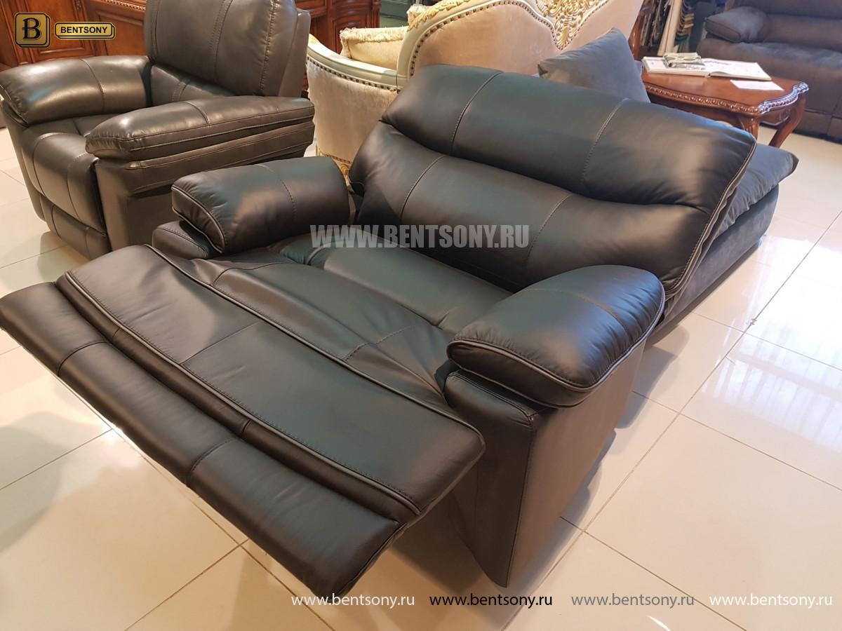 Кресло Терамо (Натуральная кожа, Реклайнер) фото