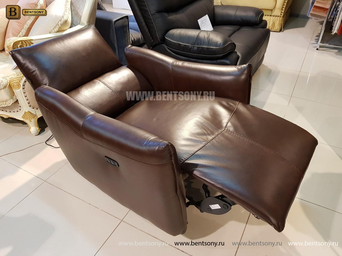 Кресло Порто цвет коричневый (Реклайнер, Натуральная кожа) магазин