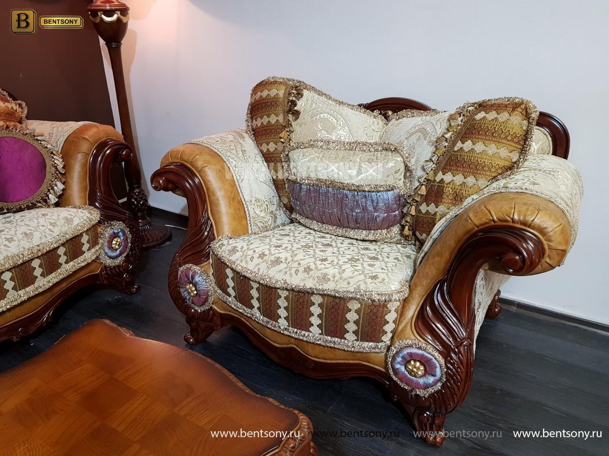 Кресло Вагнер С классическое (Подлокотники кожа) для загородного дома