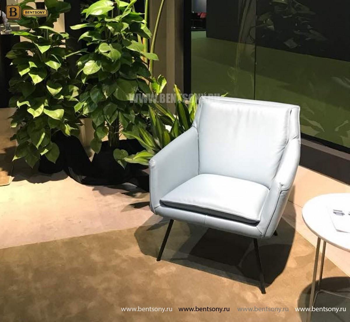 Кресло Соризо (Натуральная кожа, Металлические ножки) купить в СПб