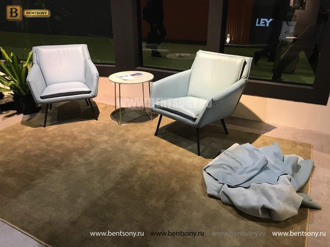 Кресло Соризо (Натуральная кожа, Металлические ножки) купить в Москве