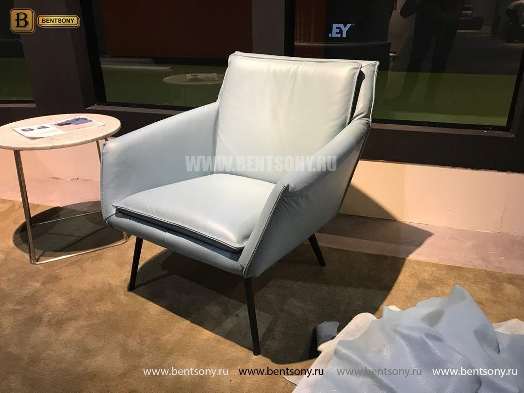 Кресло Соризо (Натуральная кожа, Металлические ножки) распродажа