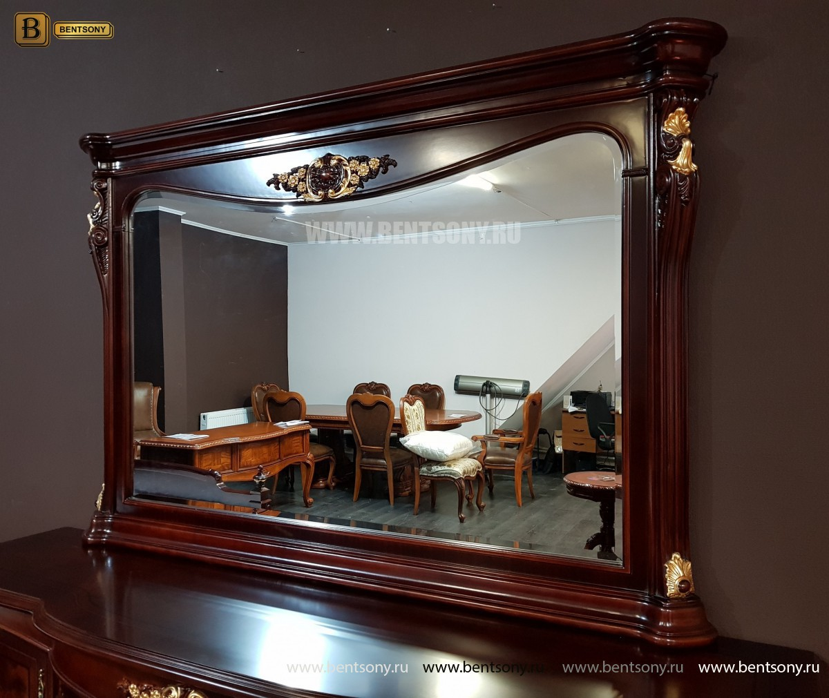 Зеркало к Комоду Вагнер (Классика, массив дерева)  каталог мебели с ценами