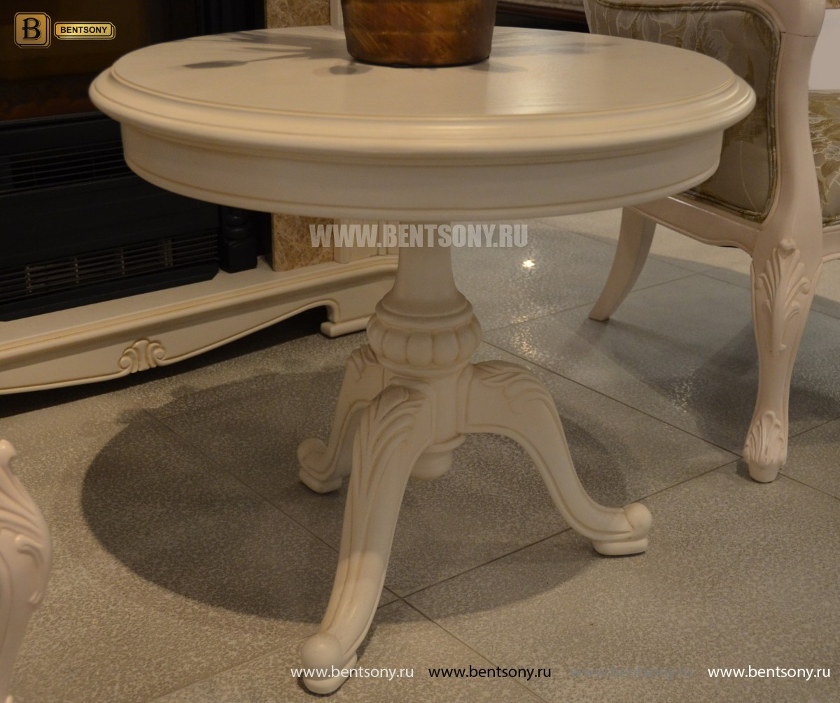 Стол журнальный круглый Флетчер-W(Классика, массив дерева) каталог мебели