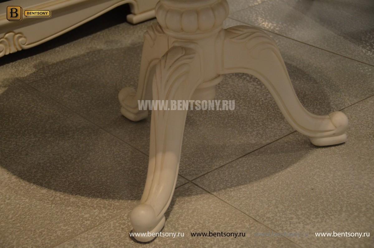 Стол журнальный круглый Флетчер-W(Классика, массив дерева) для дома