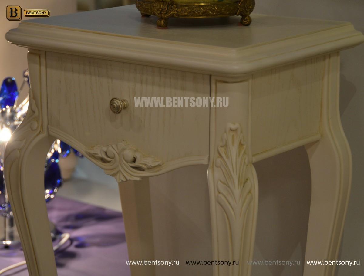 Столик под телефон Флетчер-W (Массив дерева, класика) для квартиры