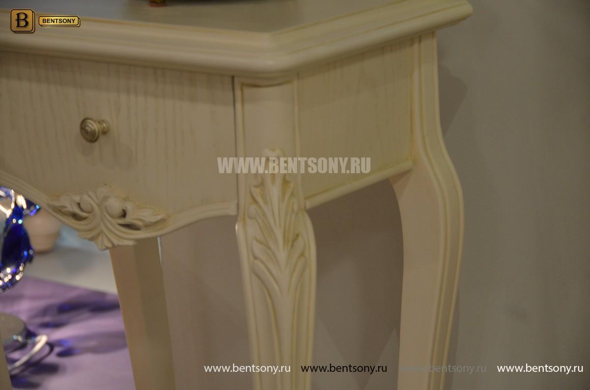 Столик под телефон Флетчер-W (Массив дерева, класика) для дома