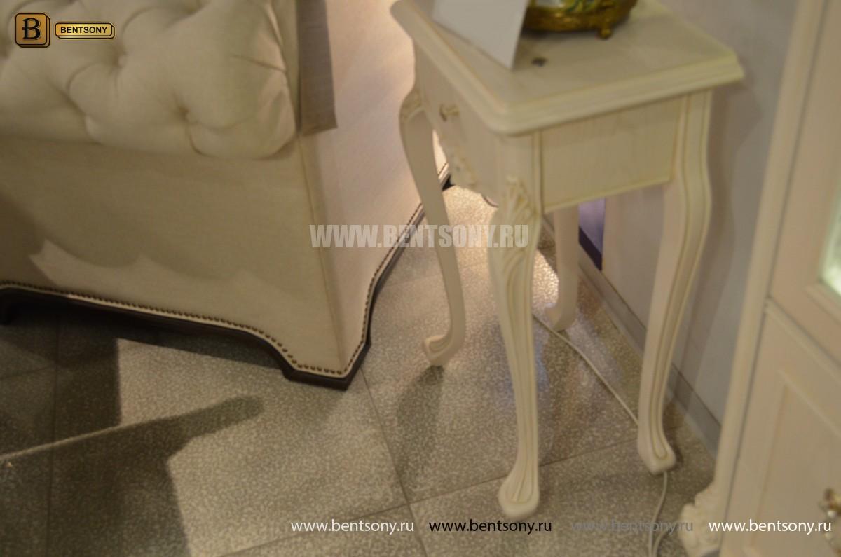 Столик под телефон Флетчер-W (Массив дерева, класика) купить в Москве
