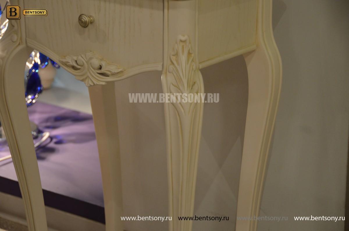 Столик под телефон Флетчер-W (Массив дерева, класика) в Москве