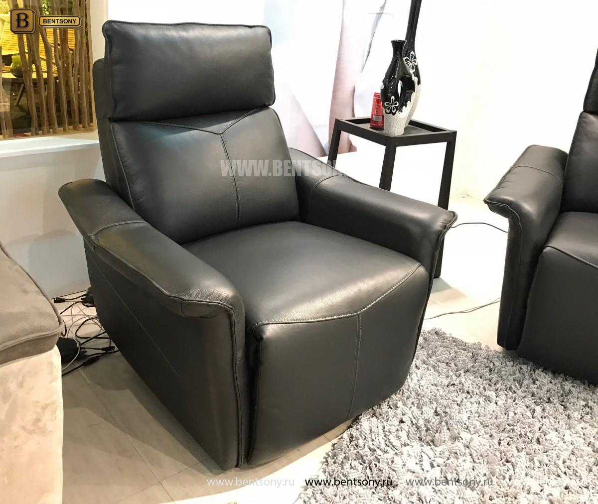 Кресло Анголо (Реклайнер, Натуральная кожа) каталог с ценами