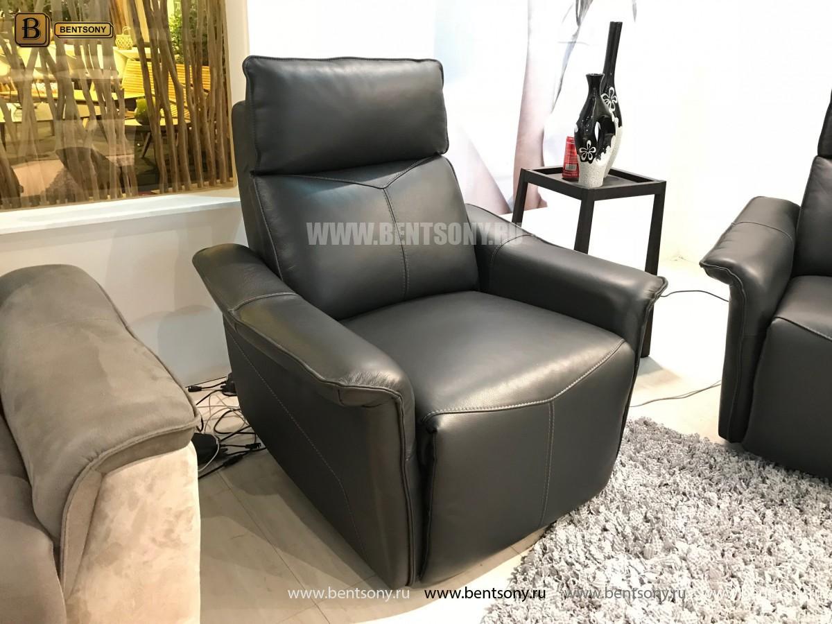 Кресло Анголо (Реклайнер, Натуральная кожа) купить