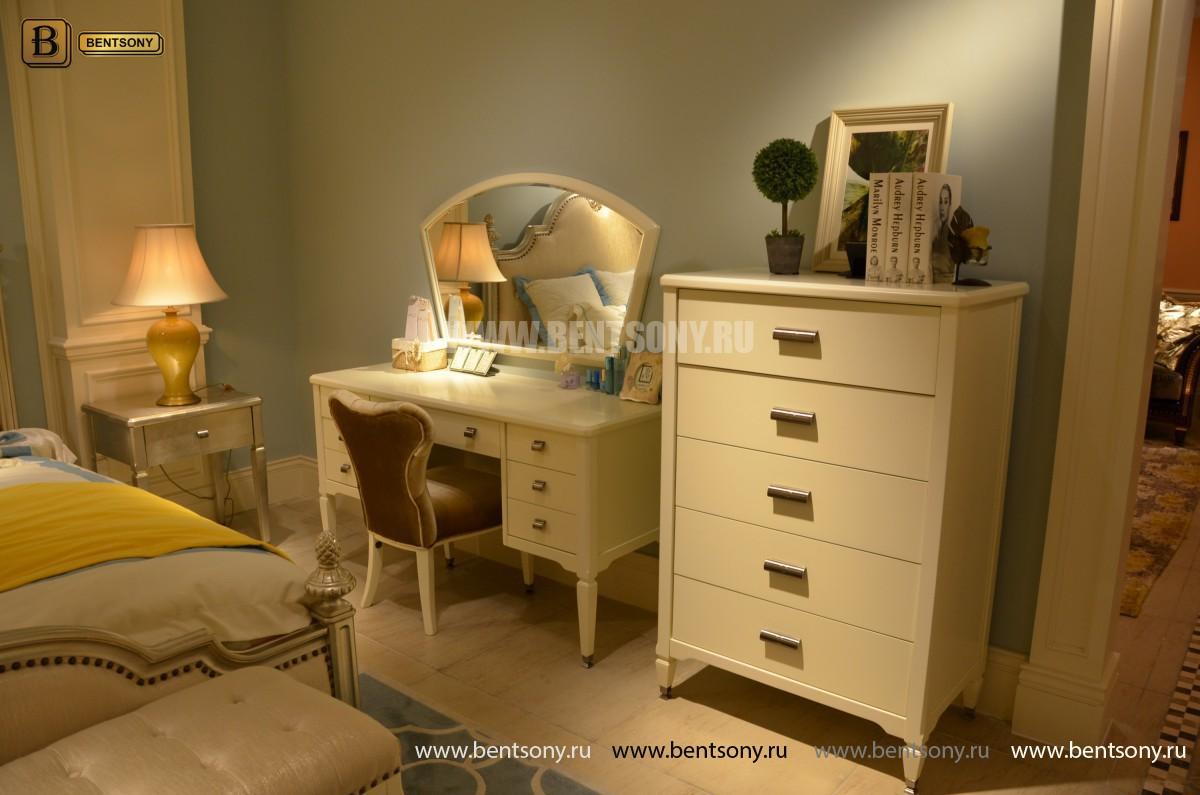 Спальня Фримонт-W белая (Классика, Ткань) для квартиры