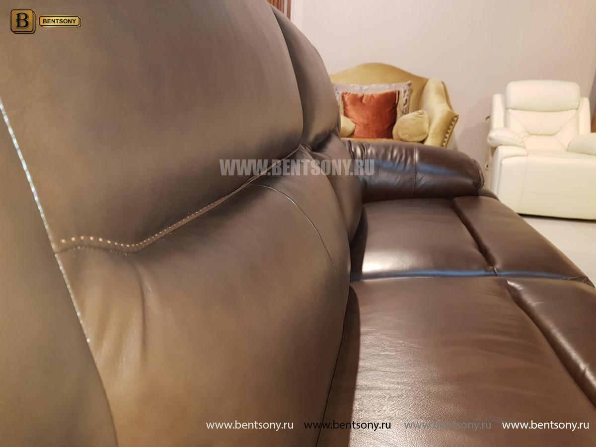 Диван Пьемонт коричневый (Прямой, Реклайнеры) купить