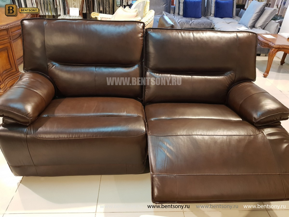 Диван Пьемонт коричневый (Прямой, Реклайнеры) сайт цены